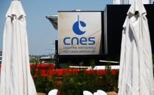 Le pavillon d'exposition du CNES au salon du Bourget 2017