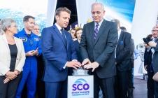 Le Président de la République Emmanuel Macron lance officiellement le Space Climate Observatory (SCO) au SIAE 2019
