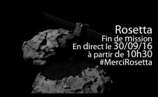 Fin de mission de la sonde Rosetta, le 30 septembre 2016