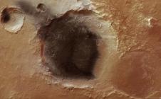Cendres volcaniques sur Mars