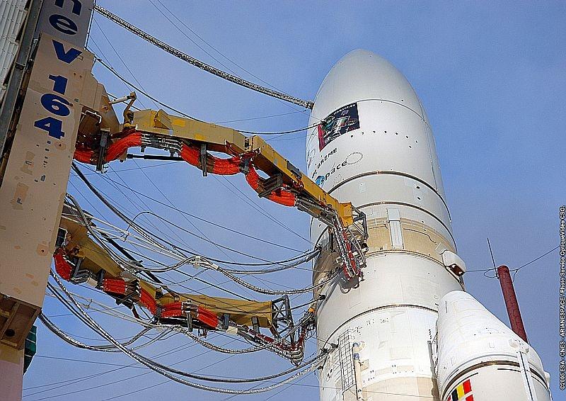 Ariane 5 ECA on its launch pad. Credits: CNES/ESA/Arianespace/CSG Service optique
