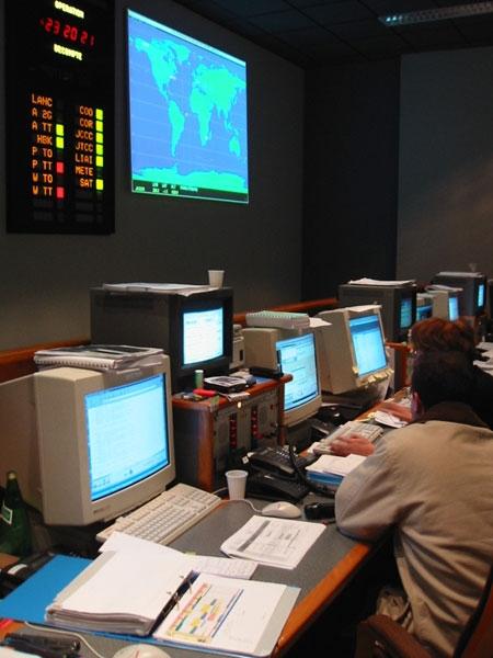Control centre. Credits: CNES